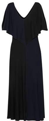 Derek Lam Cold-Shoulder Layered Crepe Dress