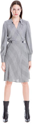 Max Studio bias cut glen plaid dress