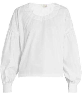 RACHEL COMEY Woolf blouson-sleeved cotton top $370 thestylecure.com