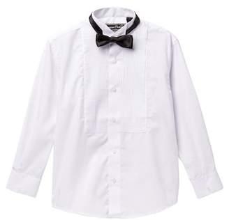 AXNY Solid Tuxedo Shirt & Bow Tie Set (Toddler, Little Boys, & Big Boys)