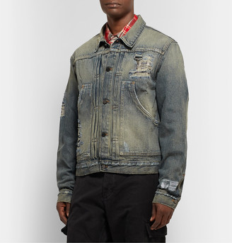 Reese Cooper® Distressed Denim Jacket