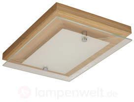 Schöne LED-Deckenleuchte Finn Eiche geölt 29 cm