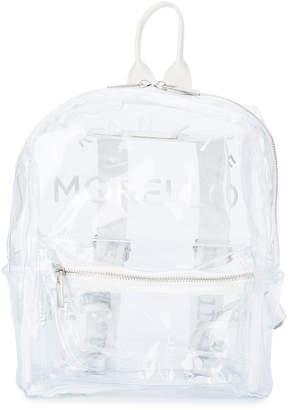 Frankie Morello Kids logo print see-through backpack
