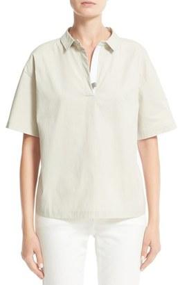 Women's Fabiana Filippi Woven & Jersey Shirt $465 thestylecure.com
