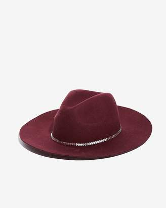 Express Floppy Wool Chain-Band Fedora