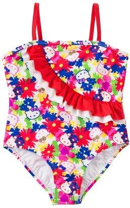 Hello Kitty Girls' Poppy Petal Ruffle One Piece (4yrs6X) - 8129636 $18.36 thestylecure.com