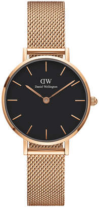 Daniel Wellington DW00100217 Petite 28mm Melrose Black Dial Rose Watch