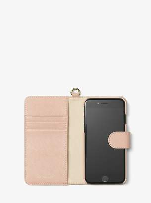 MICHAEL Michael Kors Saffiano Leather Folio Phone Case For iPhone7/8