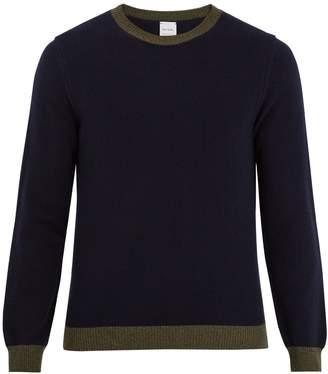 Paul Smith Bi-colour crew-neck wool sweater