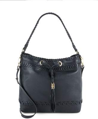 Milly Women's Astor Whipstitch Leather Bucket Bag