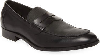 Gordon Rush Apron-Toe Penny Leather Loafer