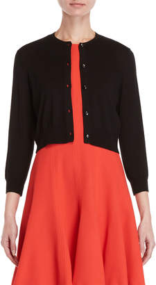 Carolina Herrera Three-Quarter Sleeve Cropped Cardigan