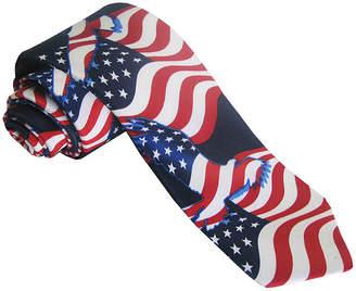 Asstd National Brand American Lifestyle Eagle Flag Tie