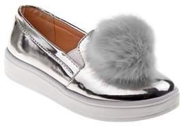 KensieGirl Pom Metallic Sneaker