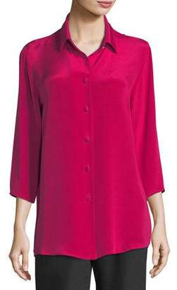 Caroline Rose Silk Crepe Cocktail Blouse