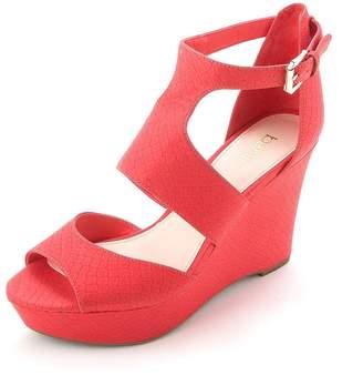 Bar III Sophie Wedge Platform Sandals - Black