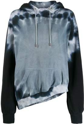 Collina Strada tie-dye asymmetric hem hoodie