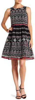 Taylor Embroidered Fit & Flare Dress