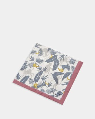 Ted Baker CANVEY Monkey print silk pocket square