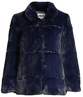 Apparis Women's Sarah Plush Faux Fur Coat