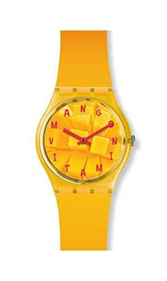 Swatch Unisex Adult Analogue Quartz Watch with Silicone Strap GO119