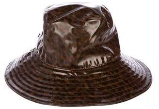 Eric Javits Patent Leather Bucket Hat