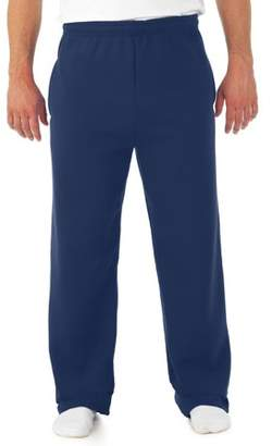 JERZEES Big Mens Soft Medium-Weight Fleece Open Bottom Sweatpants, with pockets