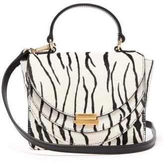Wandler Luna Mini Zebra Print Calf Hair Cross Body Bag - Womens - Black White