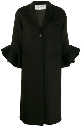 Valentino ruffle sleeve coat