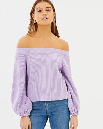 Evaley Bell Sleeve Knit Jumper