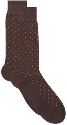 Harrods Spot Cotton Lisle Socks