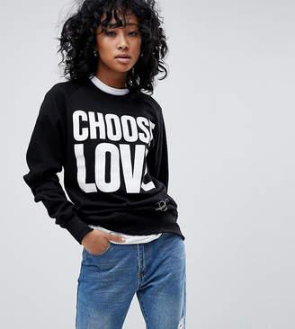 Asos Help Refugees Choose Love Organic Cotton Sweatshirt