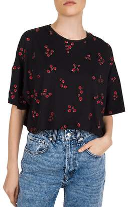 The Kooples Embroidered Ladybug-Motif Tee