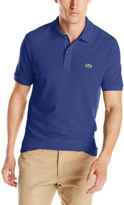 Lacoste Men's Short Sleeve Classic Pique Slim Fit Polo Shirt, Ocean, 4