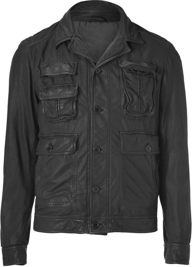 Neil Barrett Black Lambskin Jacket