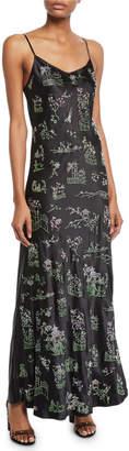 Libertine Chinoiserie Crystal-Embellished Cami Slip Dress