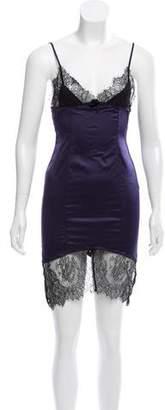 Agent Provocateur Lace-Trimmed Mini Dress