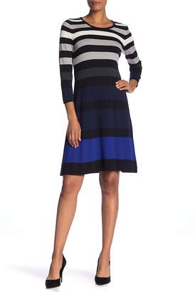 Nine West Stripe Sweater Dress