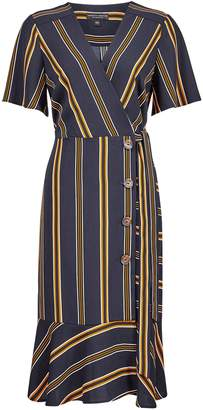 Next Womens Dorothy Perkins Striped Wrap Front Dress
