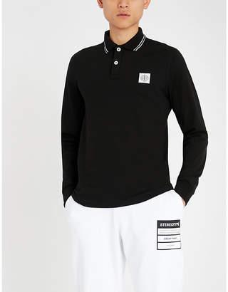 Stone Island Badge chest stretch-cotton polo shirt