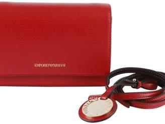 Emporio Armani Minidollaro Grained Faux Leather Shoulder Bag