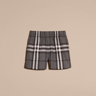 Burberry Check Twill Cotton Boxer Shorts 9