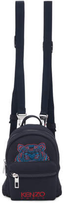 Kenzo Navy Neoprene Mini Tiger Backpack