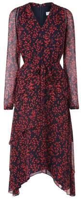 LK Bennett Licia Blue Geranium Silk Dress