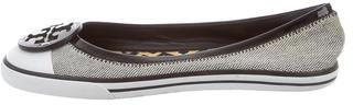 Tory BurchTory Burch Canvas Logo-Embellished Flats