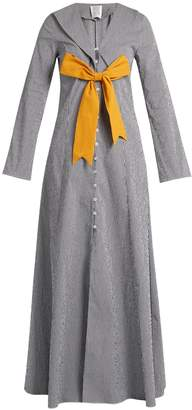 Rosie Assoulin Seeker detachable-bow gingham coat