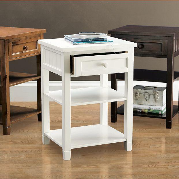 Beadboard Smart Bedside Table