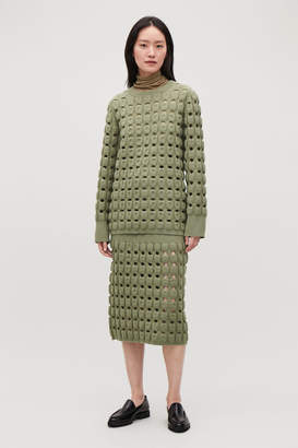 Cos CUT-OUT WOOL-KNIT JUMPER