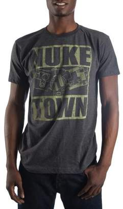 Gaming Big Men's Charcoal Heather Call of Duty Nuke Town Map T-shirt