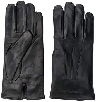 Emporio Armani embossed logo gloves